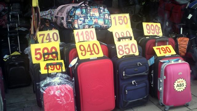 Fake suitcases