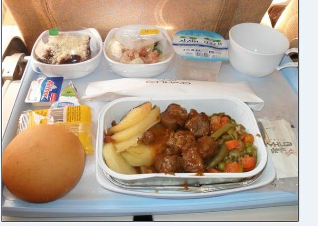 Etihad flight meal