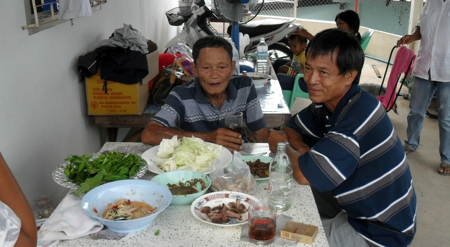 family barbecue in nong khai 100% Proof Lao Khao is a Knockout Drink