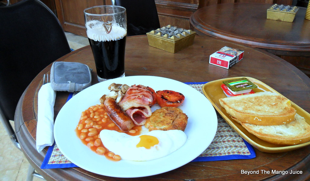 Standard english breakfast pictured above tickles your taste buds