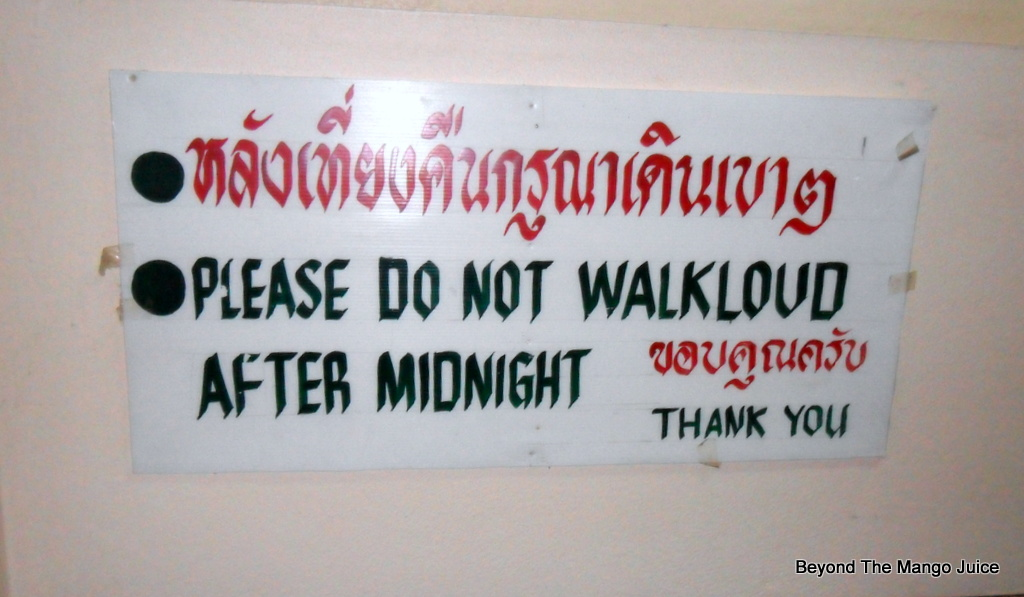 funny sign Thailand