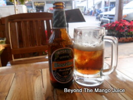 Beer Lao served at the Ban Thai, Loei